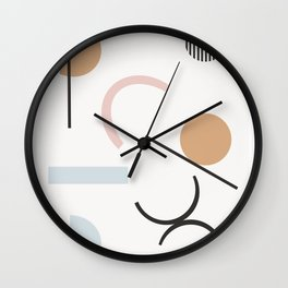 Adelpha - minimal art print, minimal, abstract art print, neutral, earth tones, Wall Clock
