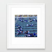 dodgers Framed Art Prints featuring Find Your Seat by Gabe Dahl
