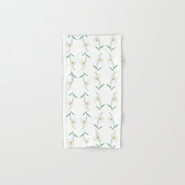 white lily watercolor Hand & Bath Towel