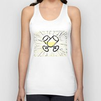 champagne Tank Tops featuring Champagne toast by Hanscom Park Studio