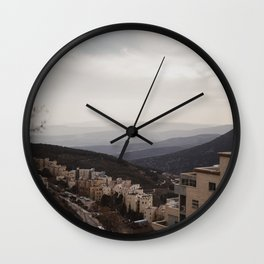 View of Mountains from Tzfat, Israel Wall Clock