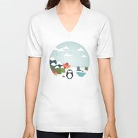 biology V-neck T-shirts featuring South Pole by Find a Gift Now