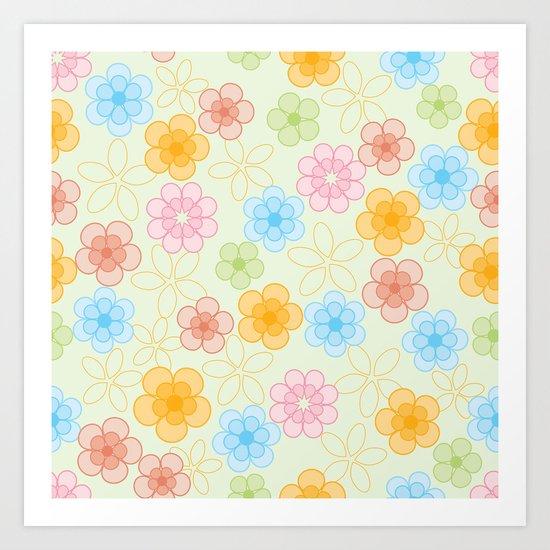 Cute Flower Pattern 2 Art Print