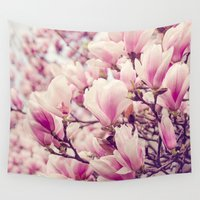 magnolia Wall Tapestries featuring Magnolia by Juste Pixx Photography