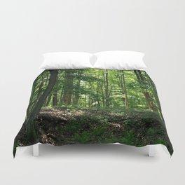 Pine tree woods Duvet Cover