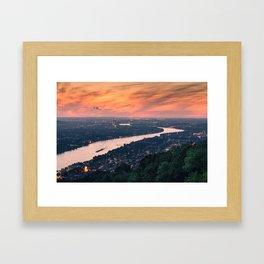 THE RHINE 10 Framed Art Print