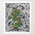 Dragon with patterns by seymourart