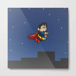 Super Pixel Metal Print