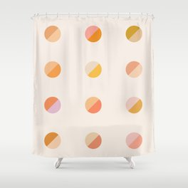 Abstraction_DOT_DOT_Colorful_Minimalism_001 Shower Curtain