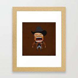 Screaming Walker Texas Ranger Framed Art Print