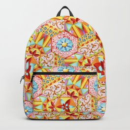Pink Paisley Hexagons Backpack