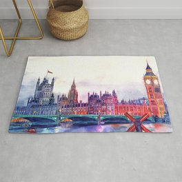 Sunset in London Rug
