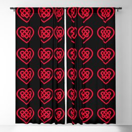 Celtic Heart (Dark) Blackout Curtain