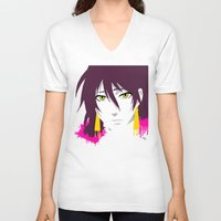 prince V-neck T-shirts featuring Prince by Kellie Anne