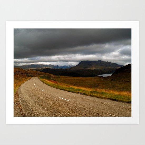 The Road to Poolewe Art Print