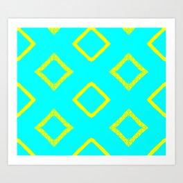 Jairus Turquoise Art Print