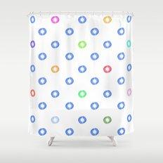 Watery Specks Shower Curtain
