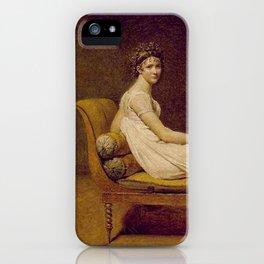 Madame Récamier Jacques Louis David iPhone Case