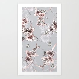 Crystalized Florals Art Print