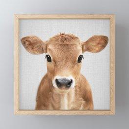 Calf - Colorful Framed Mini Art Print