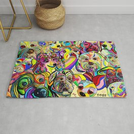 Dogs, DOGS, DOGS!! Rug