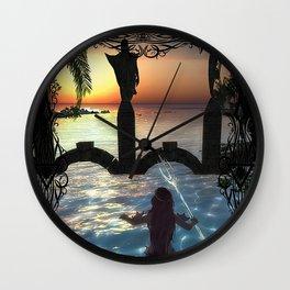 Dawns Embrace Wall Clock