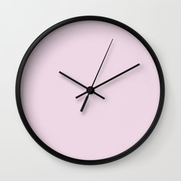 Bright Pastel Baby Girl Pink Solid Color Parable to Lucky You 1004-4C by Valspar Wall Clock