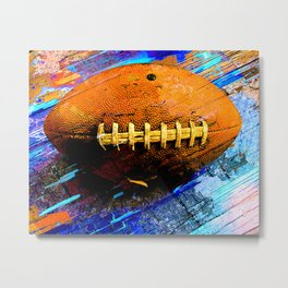 Football ball vs 2 Metal Print