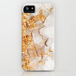 White and Rose Gold Crystal iPhone Case
