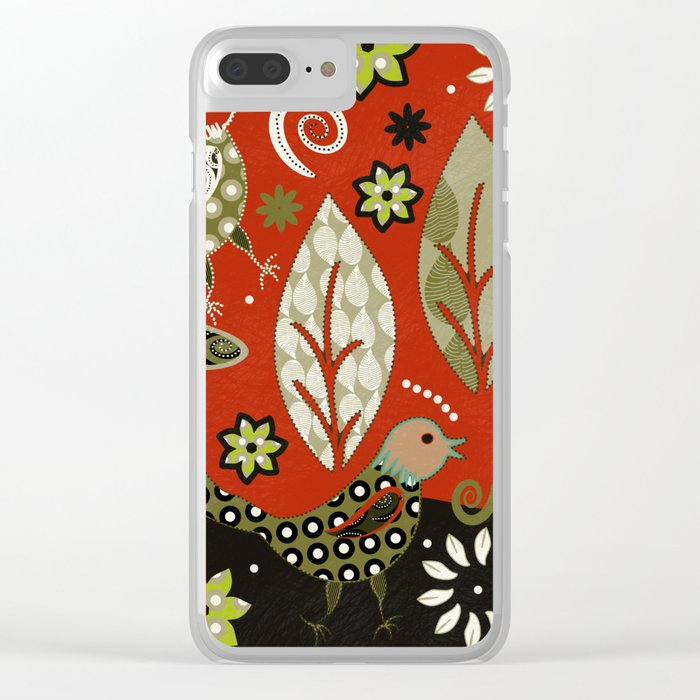birds in summer Clear iPhone Case