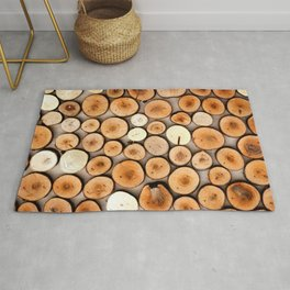 Colorful Wooden Cuttings Rug