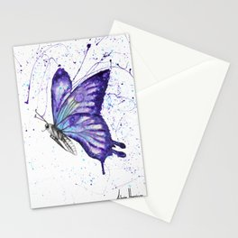 Lavender Butterfly Stationery Cards