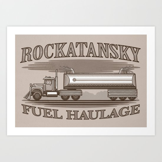Rockatansky Fuel Haulage Art Print