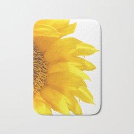 yellow sunflower Bath Mat