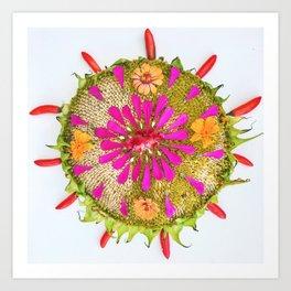 late summer mandala Art Print
