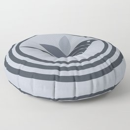 bird and circles Floor Pillow