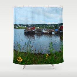 Fisherman's Wharf in Cape Breton Shower Curtain