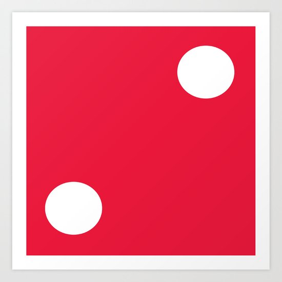 Red Dice 2 Art Print