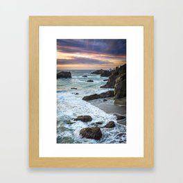 Thunder Rock Cove Sunset Coastline Framed Art Print