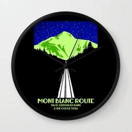 Mont Blanc Alps railway route Wall Clock