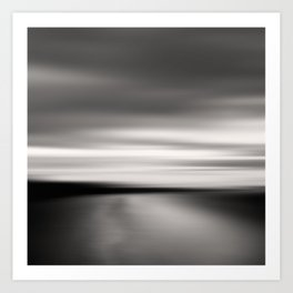 End of The Day - Beach abstract Art Print