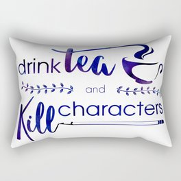 Drink Tea and Kill Characters Rectangular Pillow