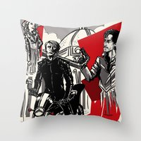 hannibal Throw Pillows featuring Hannibal! by Ginger Breo