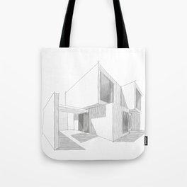 Cubic House No.1 - minimalist architecture - sketch art Tote Bag