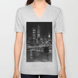 Brooklyn Bridge New York Unisex V-Neck