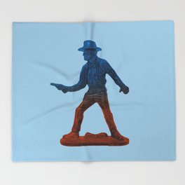 Toy Cowboy Throw Blanket