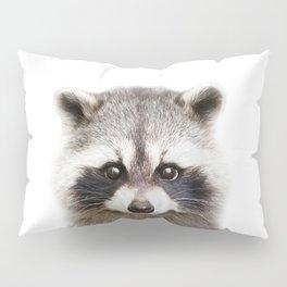 Raccoon Baby Animals Art Print by Zouzounio Art Pillow Sham