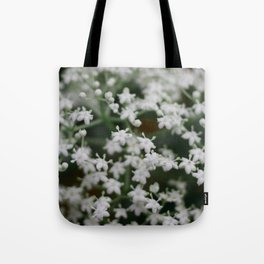 Small little white flowers Tote Bag
