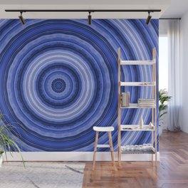 Light blue circles Wall Mural