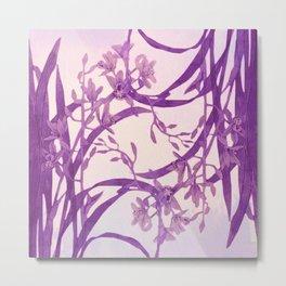 vice versa floral in purple Metal Print